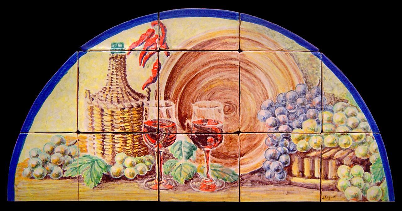 Azulejos pintados a mano y murales decorativos pared - Murales de azulejos ...