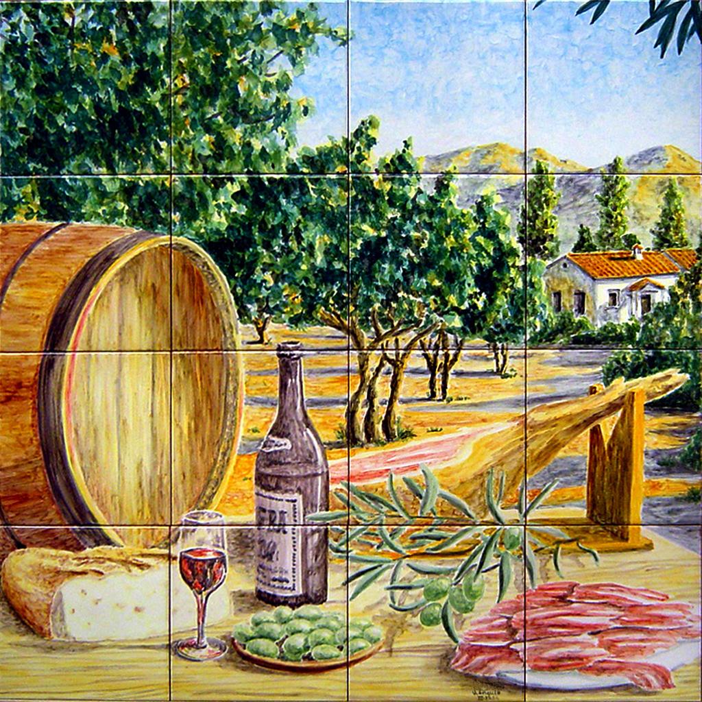 Murales azulejos pintados materiales de construcci n para la reparaci n - Murales de azulejos ...